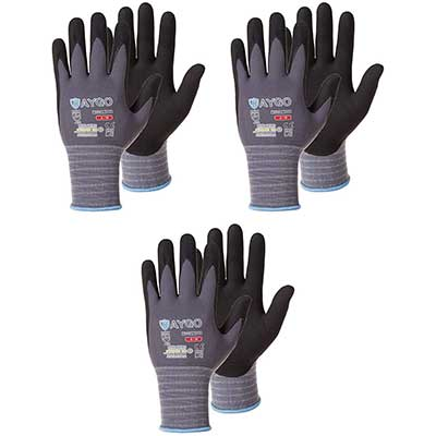 Safety Work Gloves Microfoam Nitrile Coated