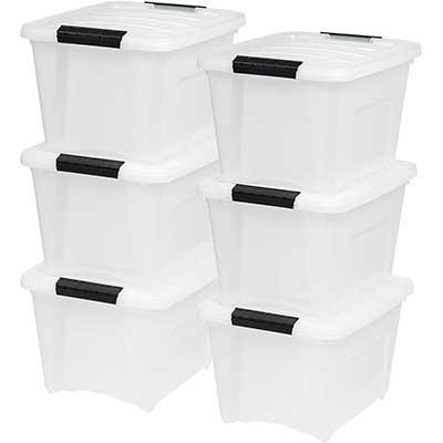 IRIS USA TB – 17 19 Quart Stack & Pull Box, Multi-Purpose Storage Containers
