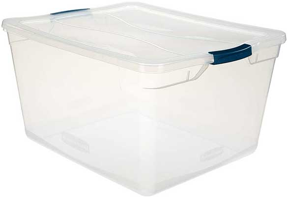 Rubbermaid Cleverstore Clear71QT Pack of 4Storage Containers