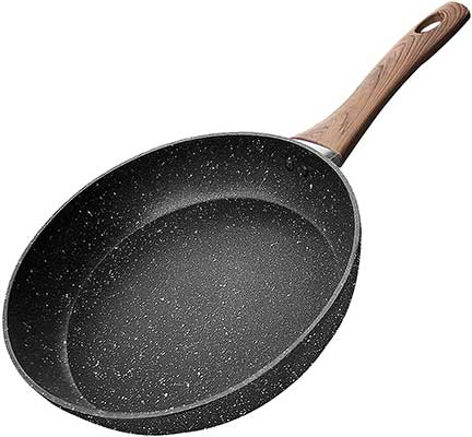 COTEY 10 Inch Frying Pan, Nonstick Grill Skillet with Stone Derived Coating