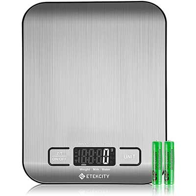 Etekcity 304 Stainless Steel Food Kitchen Scale