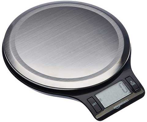 Amazon Basics Stainless Steel Digital Kitchen Scale