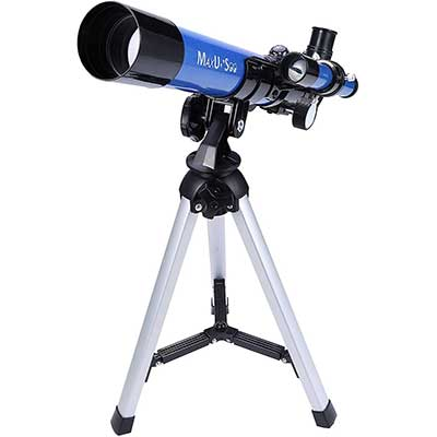 MaxUsee Kids Telescope 400x40mm with Tripod and Finder Scope
