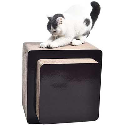 Amazon Basics Oval Cardboard Cat Scratcher Lounger