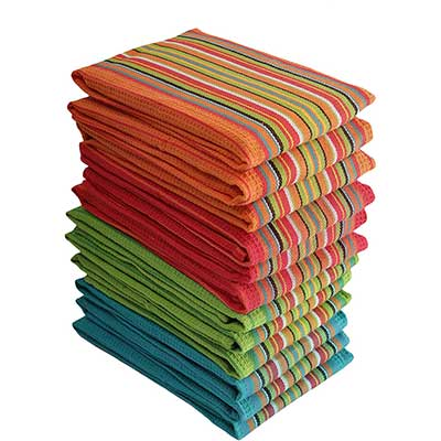 DG Collections Kitchen Dish Towels, 100% Natural Cotton