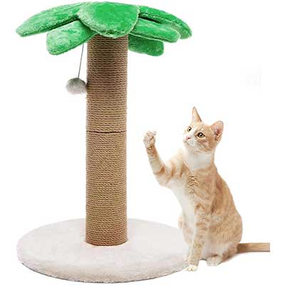 LUCKITTY Small Cat Scratching Post Posts