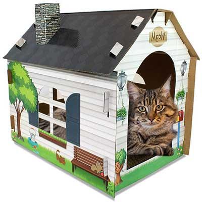 ASPCA Cat House & Scratcher w/Bonus Catnip