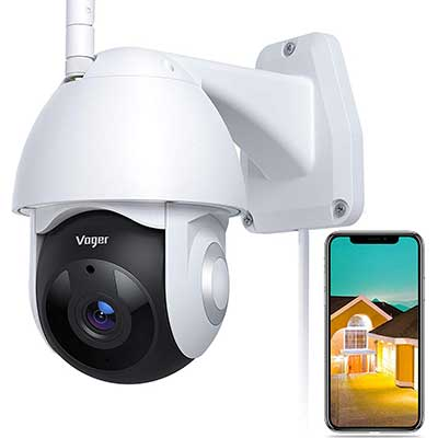 Security Camera Outdoor, Voger 360-degree View WiFi