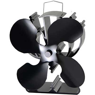 4-Blade Heat Powered Stove Fan for Wood/Log