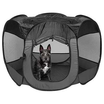 Furhaven Pet Playpen – Indoor-Outdoor Mesh Open Air Playpen and Exercise
