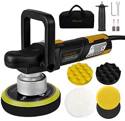 Ginor Polisher, 900W 6-inch Variable Speed Dual-Action Buffer Polisher