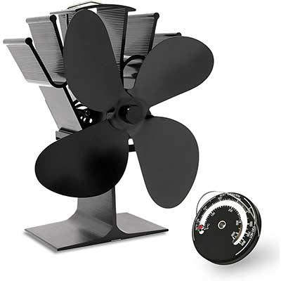 AcornSolution 4-Blade Heat Powered Stove Fan