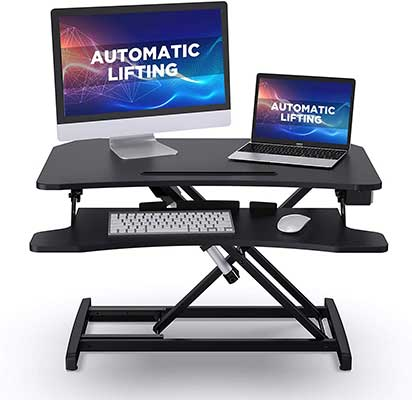 ABOX Standing-Desk with Electric Powered Lifting Converter