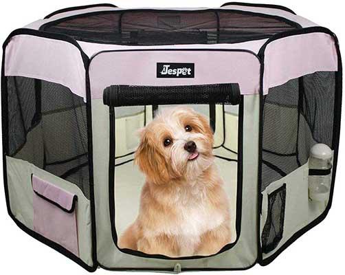 "JESPET Pet Dog Playpens 36"", 45"" & 61"" Portable Soft Dog Playpen"