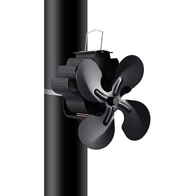Heat Powered 4 Blades Stove Fan