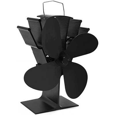 Cheffort Fireplace Fan Heat Powered Stove Fan