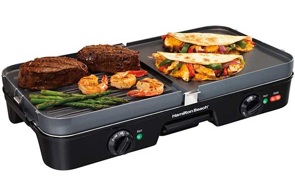Hamilton Beach Electric Indoor Grill + Griddle