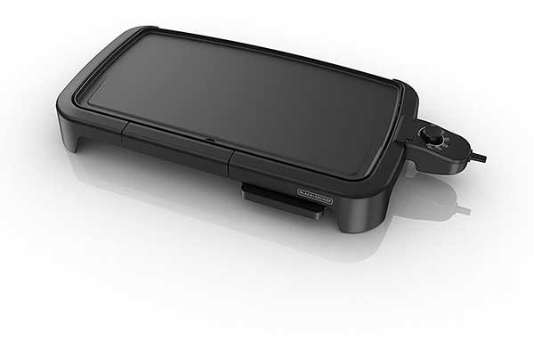 BLACK + DECKER Family-Sized Electric Griddle with Warming Tray