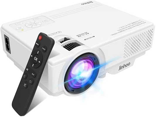 Jinhoo Mini Overhead Projector Full HD 1080P Supported