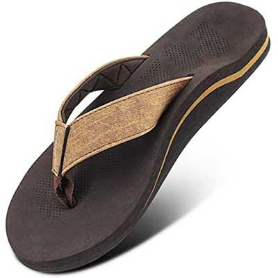 Men Sandal Flip Flop with Orthotic For Flat Feet