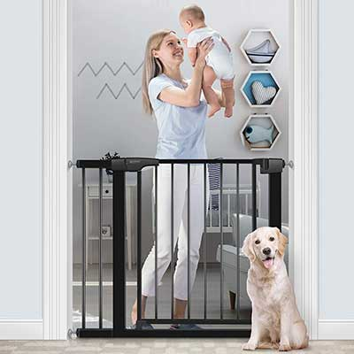 RONBEI Baby Gate for Stairs and Doorways