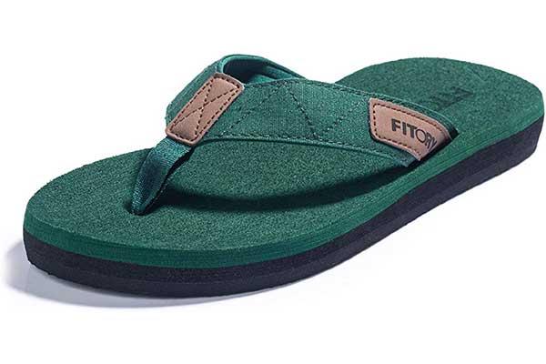 FITORY Men's Flip Flops, Thongs Sandals