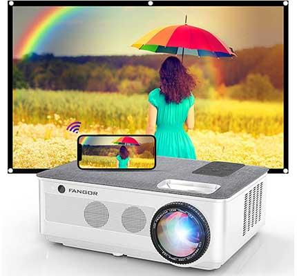 1080 Projector, FANGOR 2021 Wi-Fi Projector