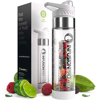 Infusion pro 24 OZ Fruit Infuser Water Bottle with Flavor