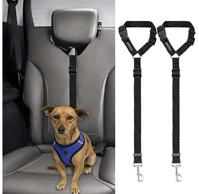 BWOGUE 2 Packs Dog Cat Seat Belt Strap Car