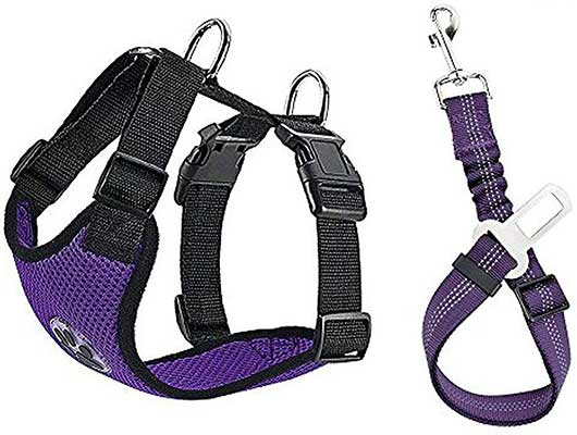 Lukovee Dog Safety Vest Harness with Seatbelt