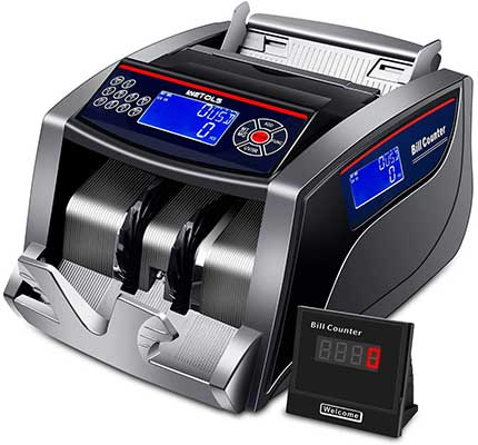 WETOLS Money Counter with Counterfeit Bill Detection