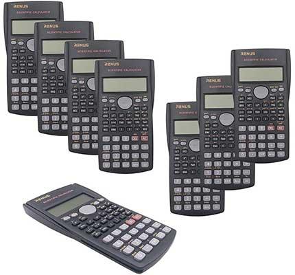 RENUS 8Packs,2-Line Engineering Scientific Calculator