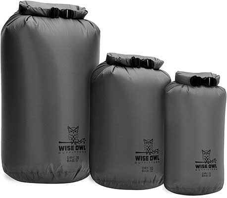 Wise Owls Outfitters Dry Bag 3-Pack