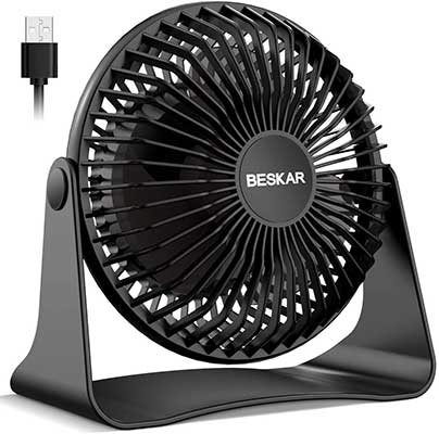BESKAR USB Small Desk Fan
