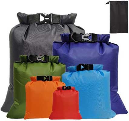 Fantye 6 Pack Waterproof Dry Sacks