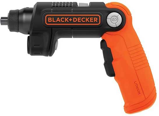 BLACK + DECKER 4X Max Cordless Screwdriver with LED Light