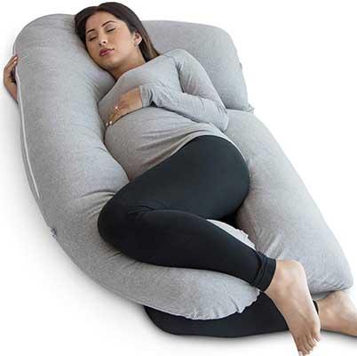 PharMeDoc Pregnancy Pillow, Grey U-Shape