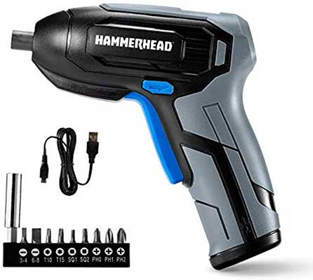 Hammerhead Rechargeable 4V Cordless Screwdriver
