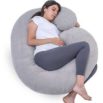 1 MIDDLE ONE Pregnancy Pillow, C-Shaped