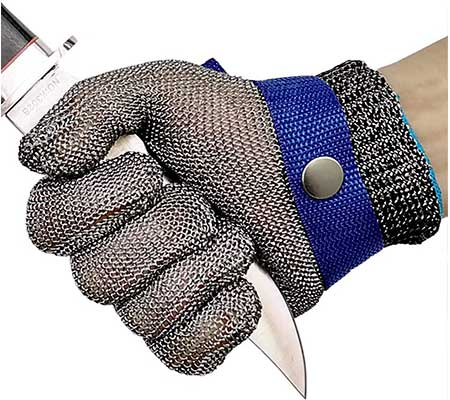 Cut Resistant Gloves Stainless Steel Wire-Metal-Mesh